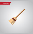 isolated witch broomstick flat icon broom vector image