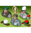 Isometric Foreign Legion Militar People vector image