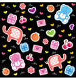 kids fun pattern vector image vector image