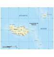 map portuguese archipelago madeira vector image vector image