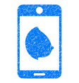 mobile erotic tit grunge icon vector image vector image
