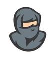 ninja warrior cartoon sign vector image vector image