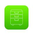 office closet icon green vector image vector image