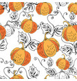 orange pumpkin on white vector image vector image