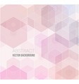 pink polygonal which consist of vector image vector image