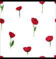 poppy pattern vector image