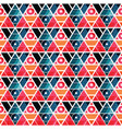 retro triangles seamless pattern vector image vector image