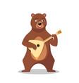 russian bear character vector image