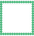 saint patricks day elegant border with shamrocks vector image
