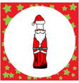 santa claus in the shape of bottle vector image vector image