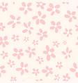 seamless pattern vintage flowers vector image vector image