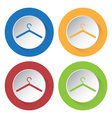 set of four icons with hanger vector image vector image