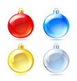 Set of glossy christmas balls on white background vector | Price: 1 Credit (USD $1)