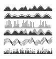 sound waves classic melody sound wave from vector image vector image