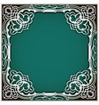 square cutout paper frame with lace corner vector image