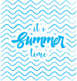 summer time poster web banner vector image vector image