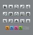 system icons interface - satinbox series vector image