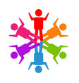 teamwork social media people logo vector image vector image