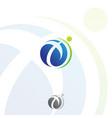 technology orbit web rings for education logo desi vector image vector image