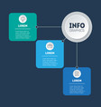 template diagram 3-steps infographic of vector image
