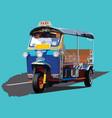 tuk-tuk transportation in bangkok thailand vector image vector image