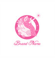 unicorn pink feminine beauty vector image