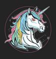 unicorn run artwork vector image vector image