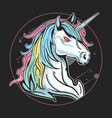 unicorn run fullcolour artwork vector image vector image
