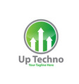 up tech logo designs vector image vector image