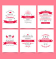 valentine day vintage greeting card for holiday vector image vector image