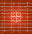 wind rose sign whitish icon on brick wall vector image vector image