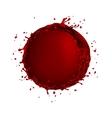 wine splash circle bubble vector image vector image