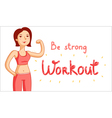 Workout vector image