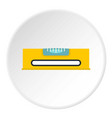 yellow working tool bubble level icon circle vector image vector image