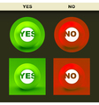 Yes and No icon set for design vector image vector image