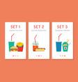 fast food app vector image
