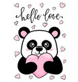 hello love hand drawn creative calligraphy and vector image
