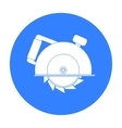 Circular saw icon in black style isolated on white vector image