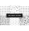set dry brush pattern vector image