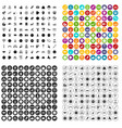 100 social media icons set variant vector image vector image