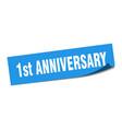 1st anniversary sticker anniversary square