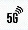 5g internet network generation icon on vector image