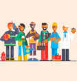 a group people different professions on an vector image
