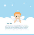 angel in the clouds vector image