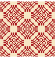 authentic seamless pattern red vector image vector image