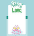 baby love card cartoons vector image vector image