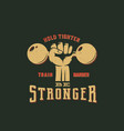 be stronger workout abstract emblem label vector image