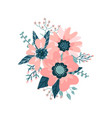beautiful floral color composition with blossom vector image vector image
