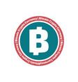 bitcoin flat design icon vector image vector image