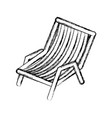 blurred thick silhouette of beach chair vector image vector image